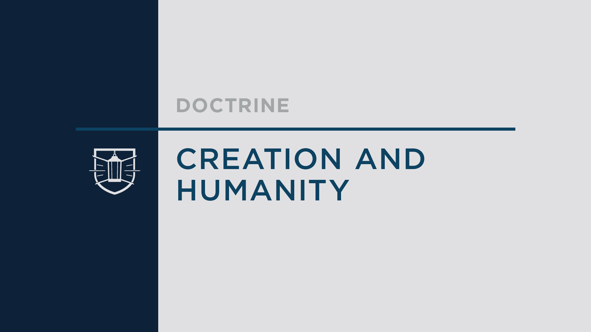 Doctrine 4: Creation and Humanity