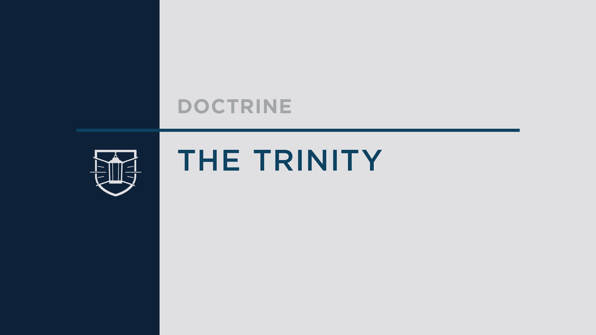 Doctrine 3: The Trinity