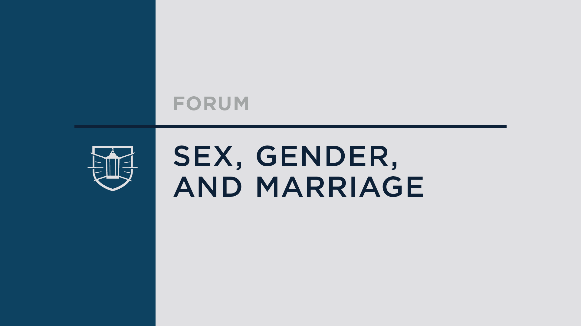 Sex, Gender, and Marriage
