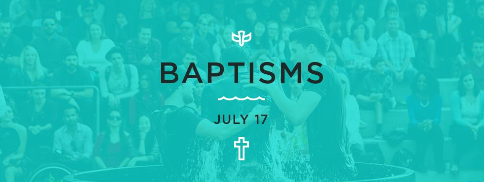 Baptisms - July 2016