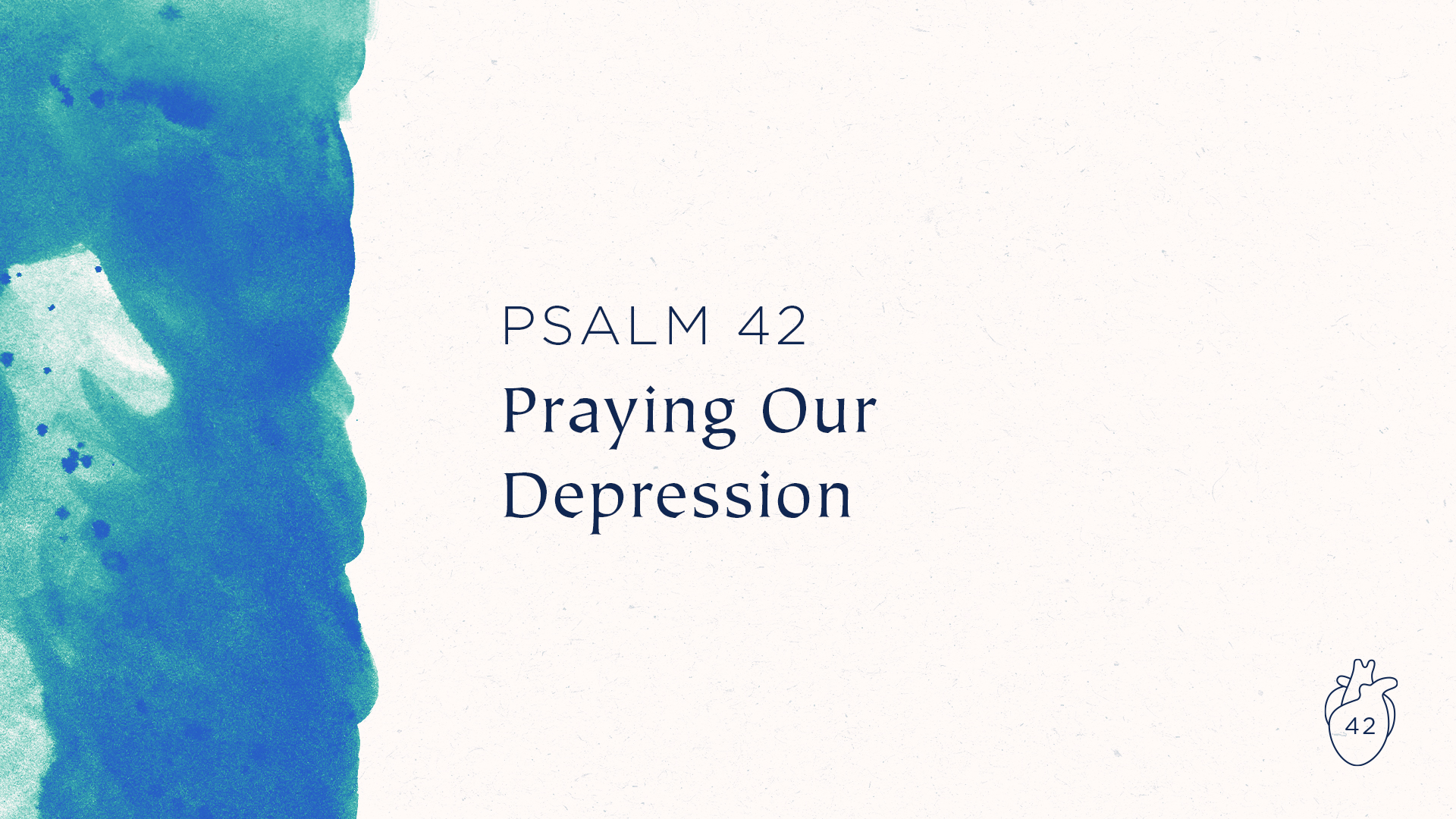 Praying Our Depression