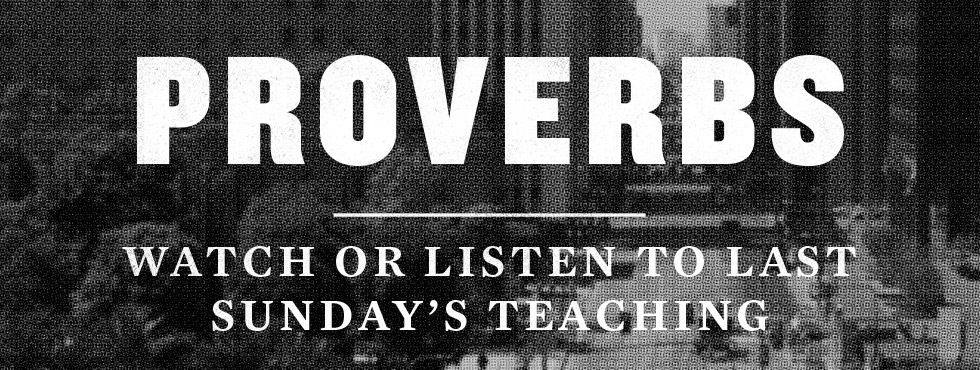 Watch or Listen to Last Sunday's Teaching