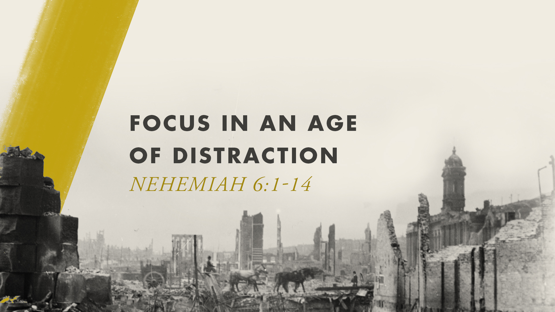 Focus in an Age of Distraction