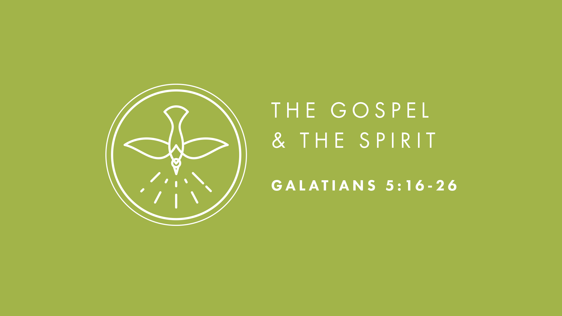 The Gospel and the Spirit