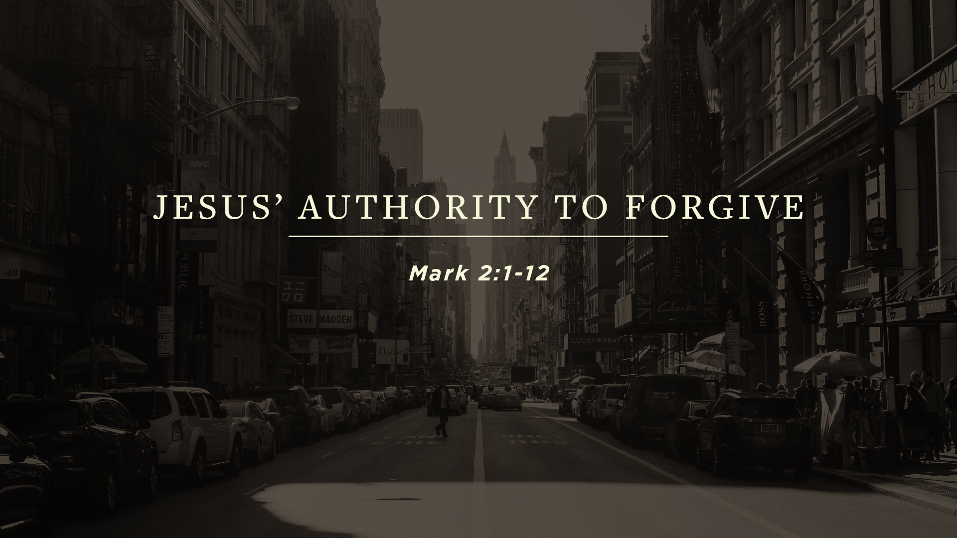 Jesus' Authority to Forgive