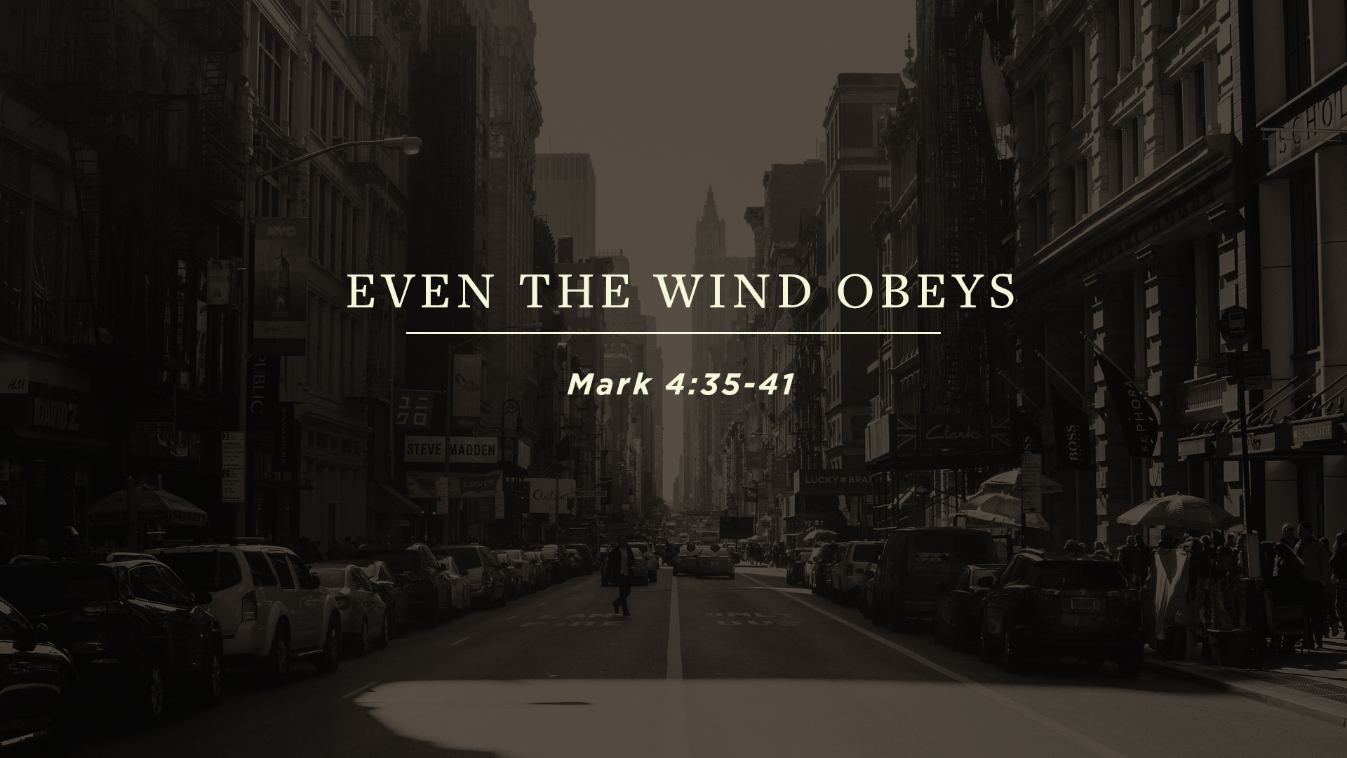 Even the Wind Obeys