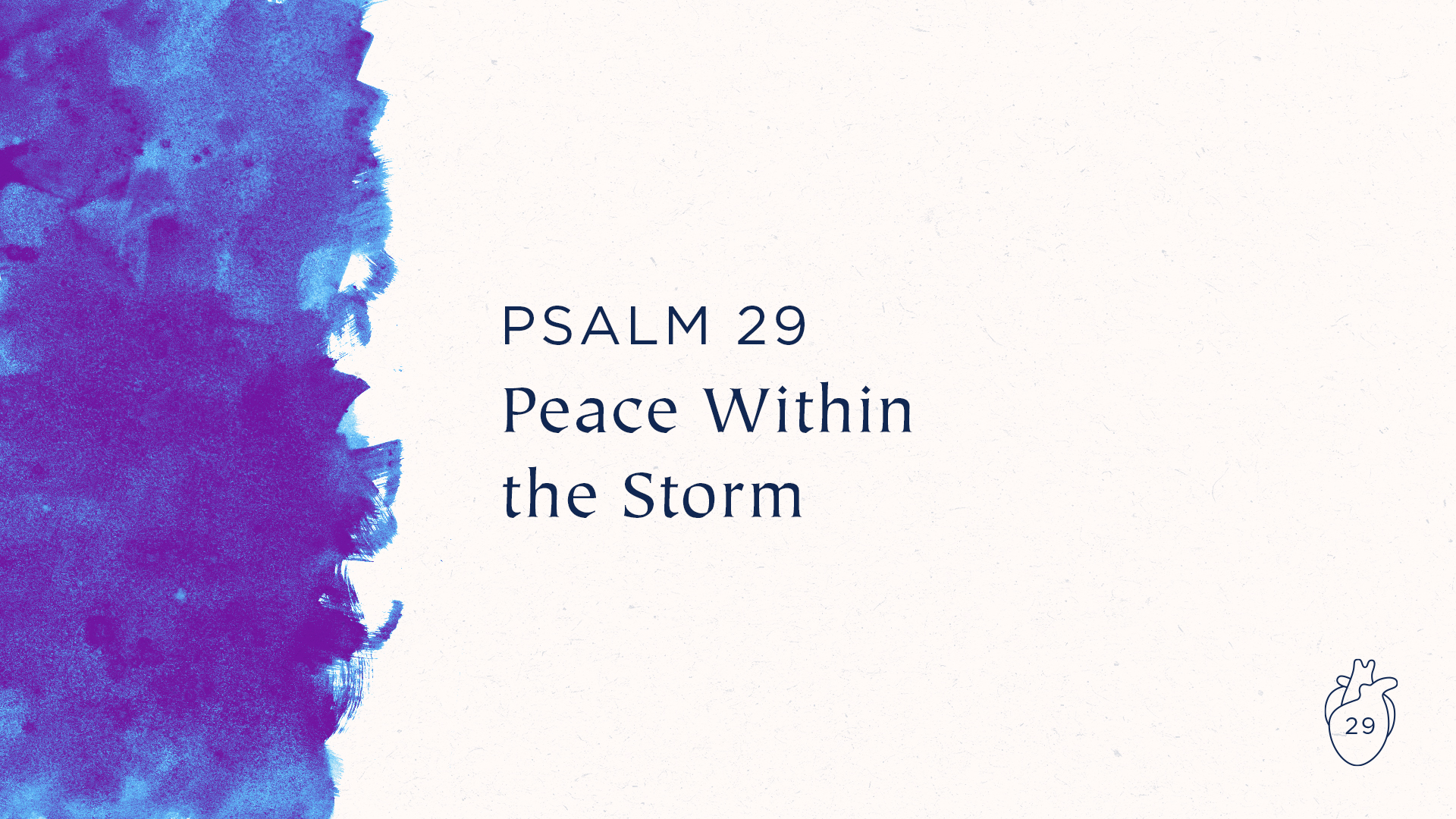 Peace Within the Storm