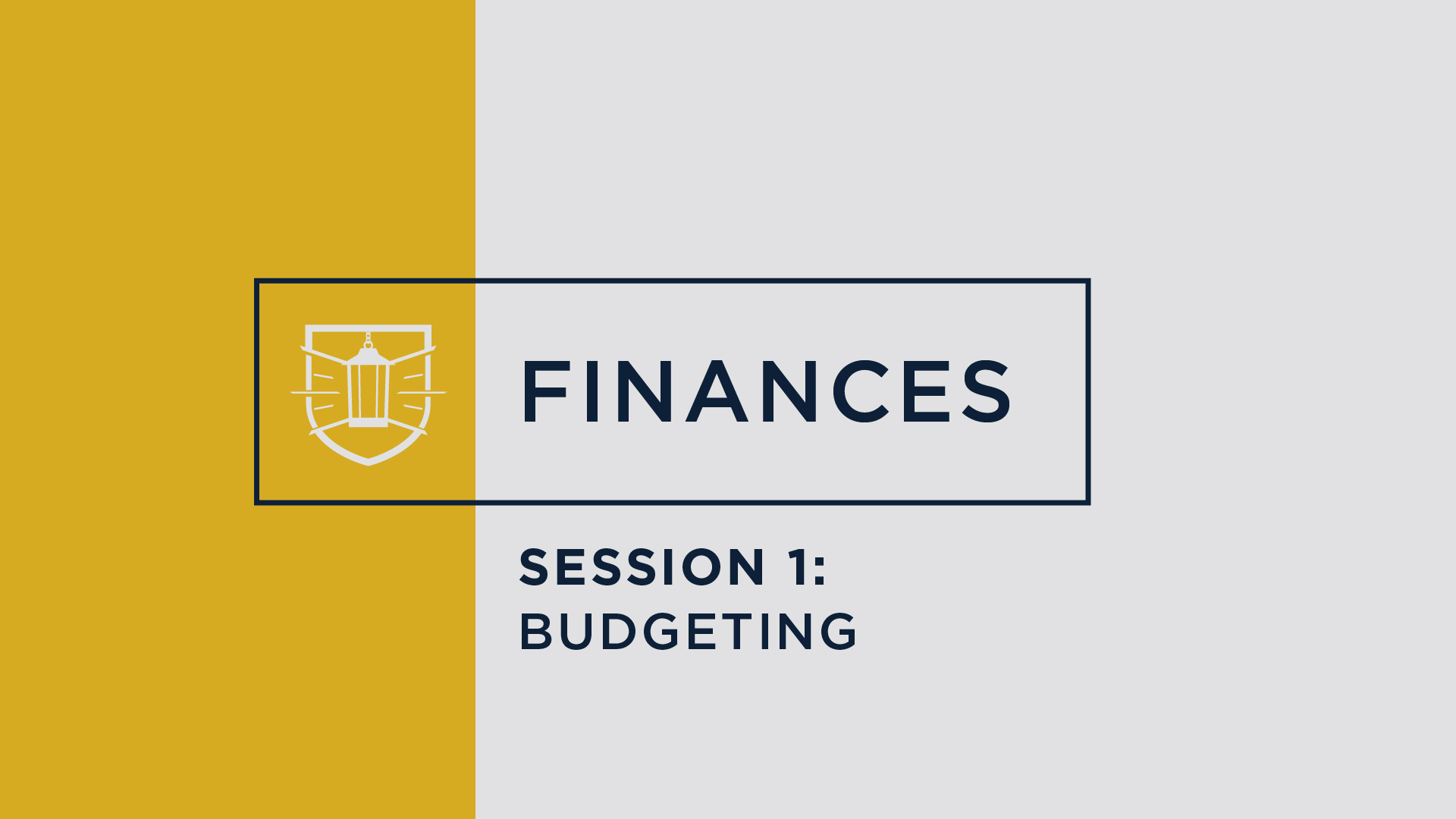 Finances 1: Budgeting