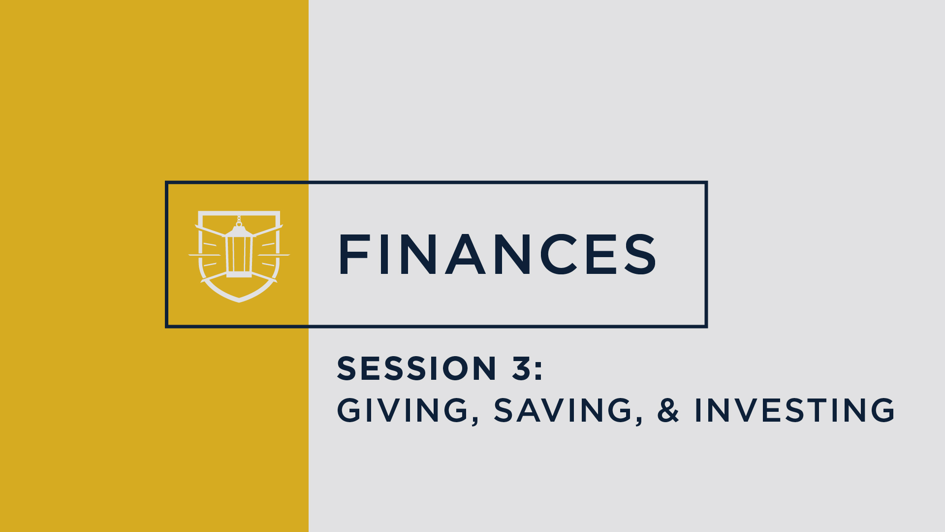 Finances 3: Giving, Saving, and Investing