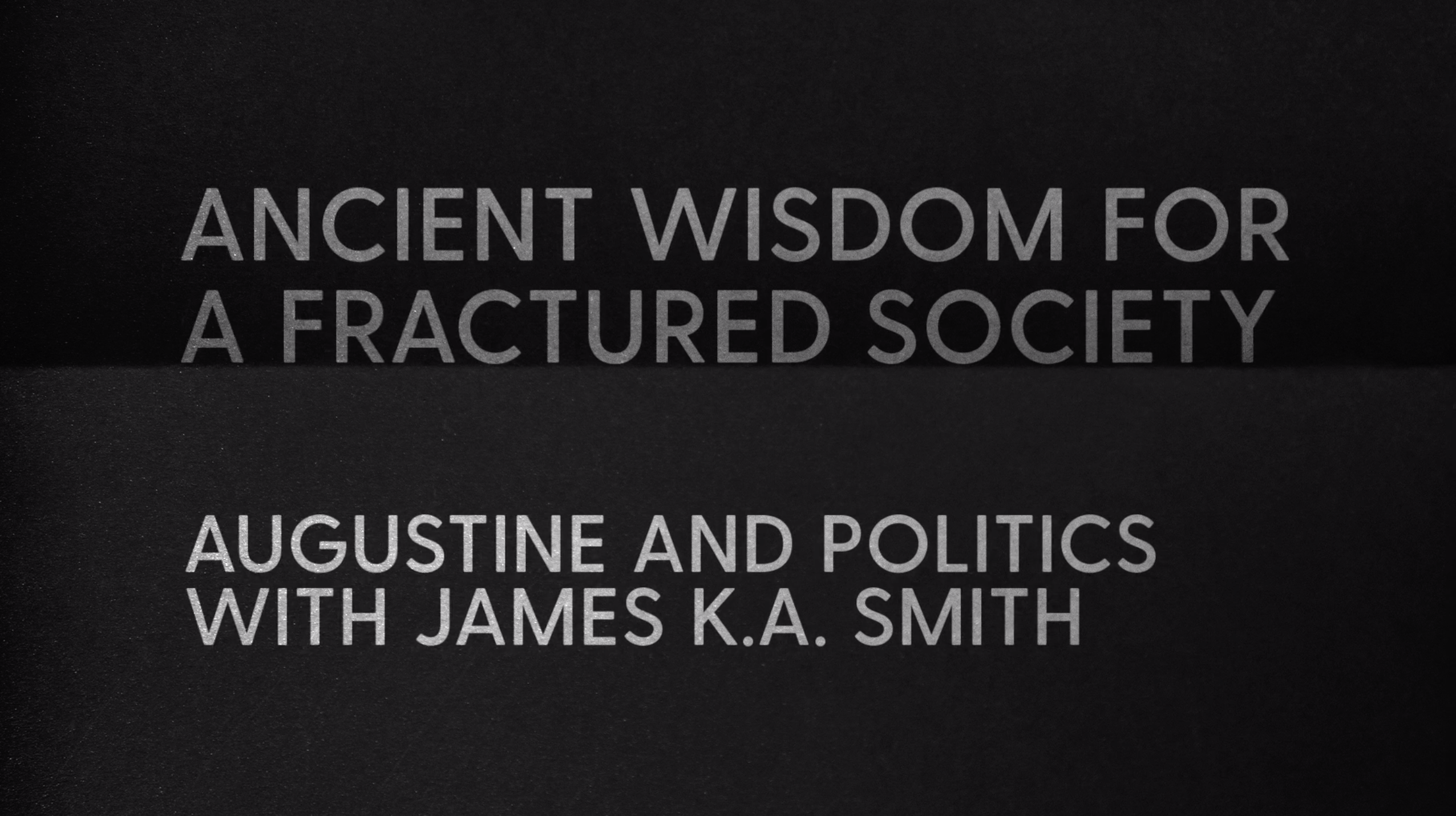 Ancient Wisdom for a Fractured Society