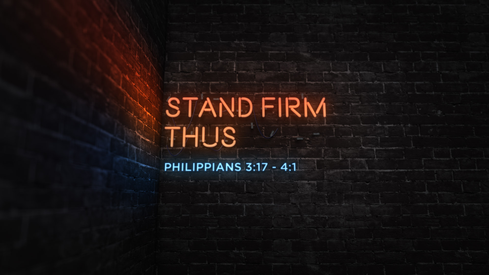 Stand Firm Thus
