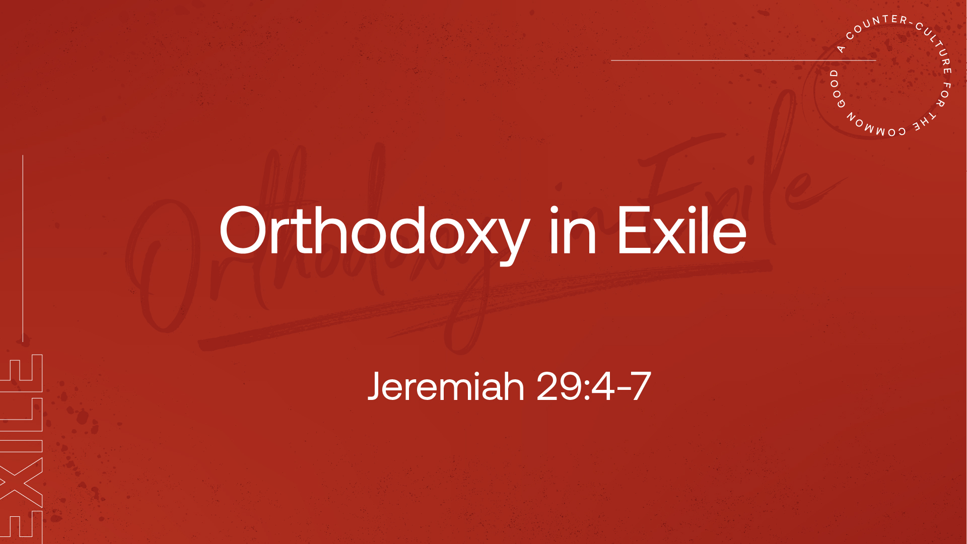 Orthodoxy in Exile